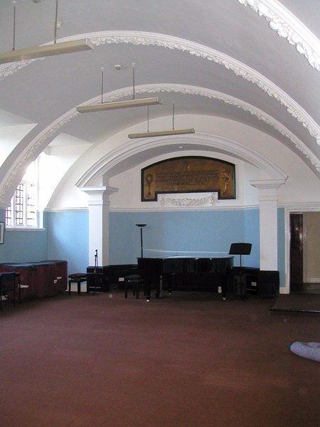 The music school recital room