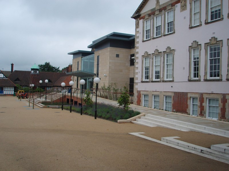 The quad showing the Favell and Marnham