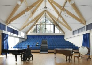 felstead school dance performance space piano on stage